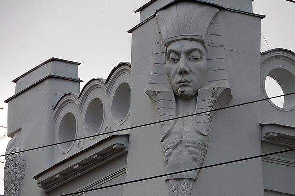 лицо сфинкса на особняке скворцова