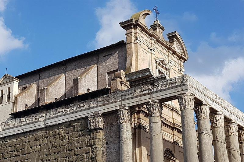 фрагмент храма антонина и фаустины