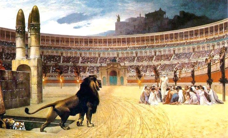 христианские мученики на арене амфитеатра флавиев