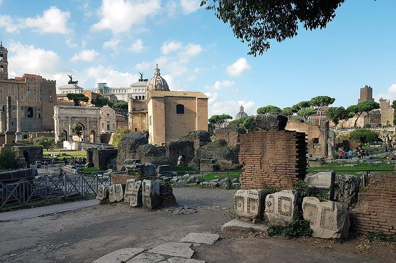 древние постройки на римском форуме