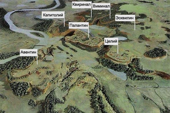 семь главных римских холмов