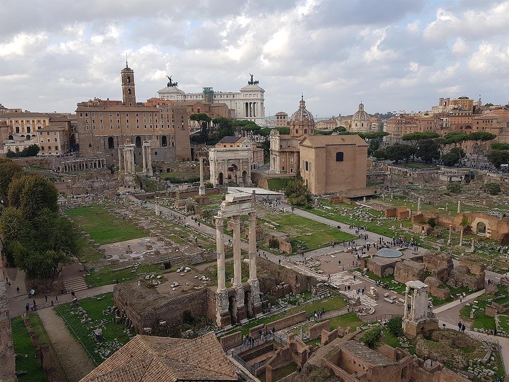 римский форум с высоты палатинского холма