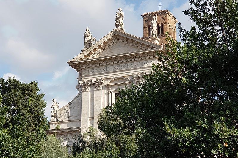 средневековая церковь святой франчески на римском форуме