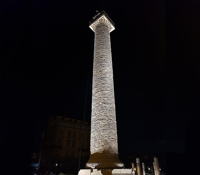 потрясающая каменная колонна траяна