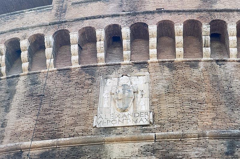 память папы борджиа в кастель сант анджело