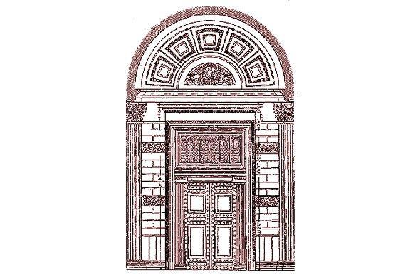 дверной проем в пантеоне
