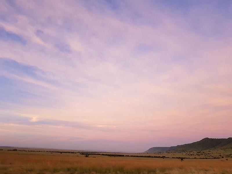 восход солнца в регионе масаи мара