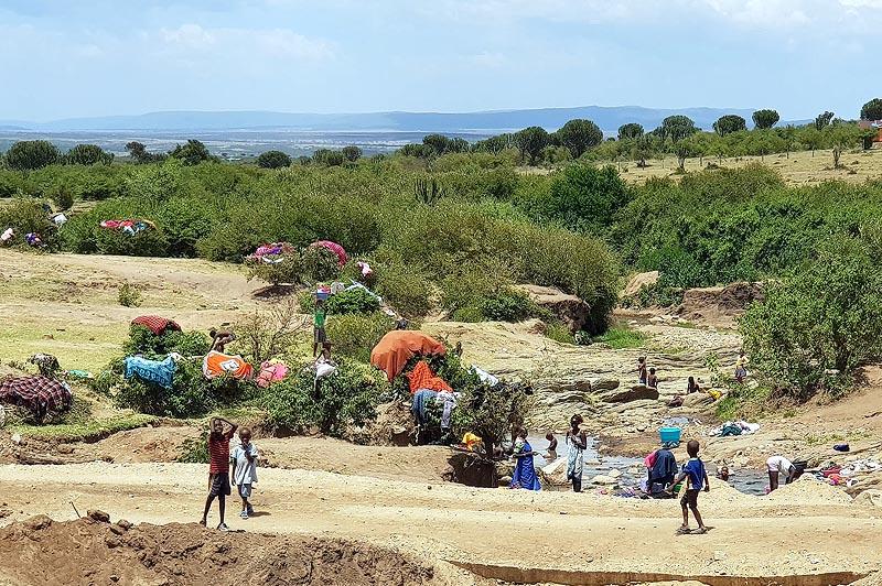 традиционные жилища и обычные занятия в племени масаев